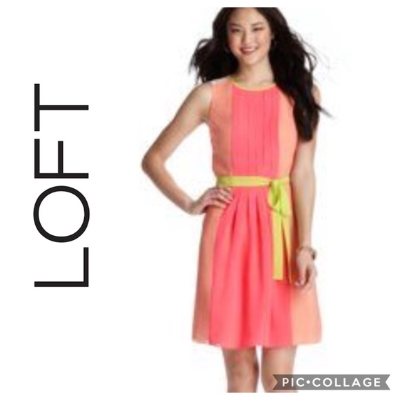 14eb3012b733e LOFT Dresses | Neon Pink Shift Dress Sz 8 | Poshmark